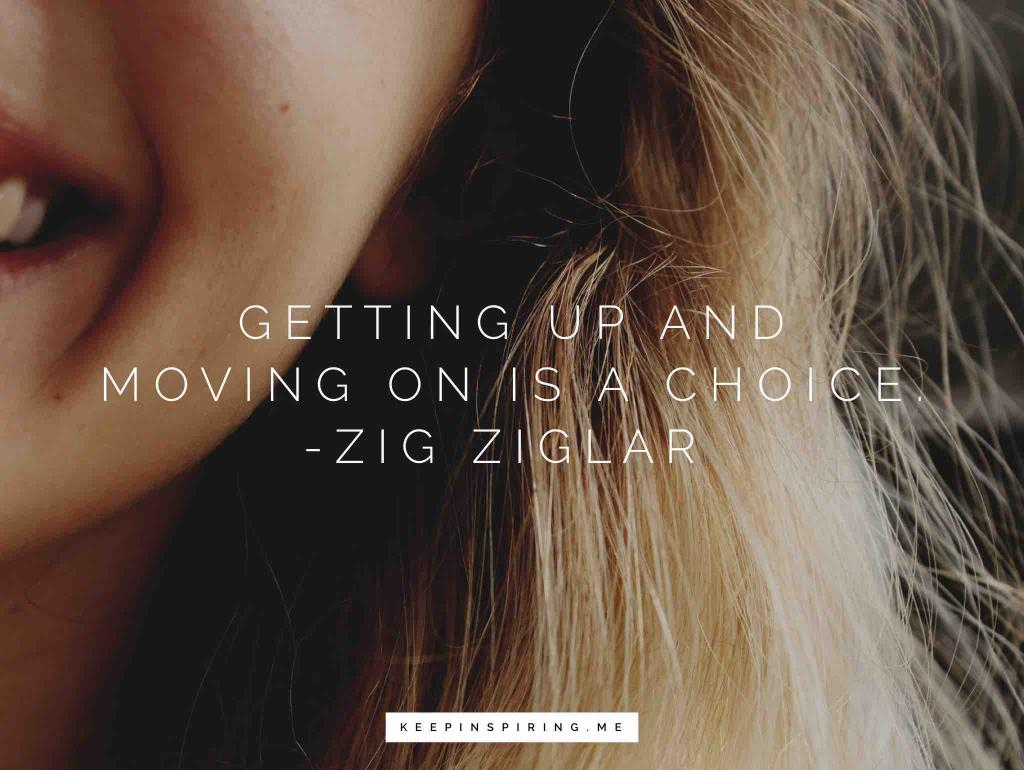 A happy blonde woman sharing her favorite Zig Ziglar motivation quote