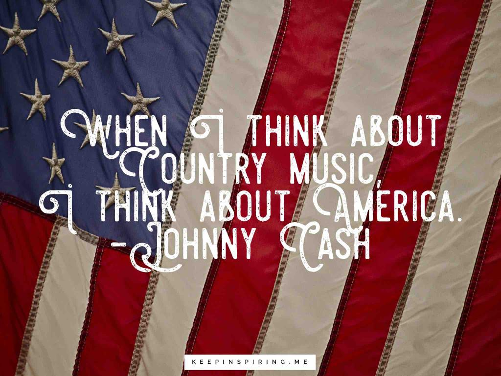An American flag waving to depict country music in America