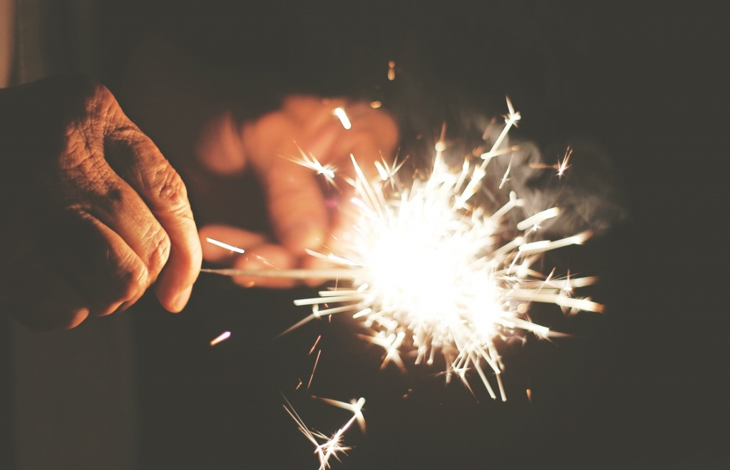 Sparklers for New Years