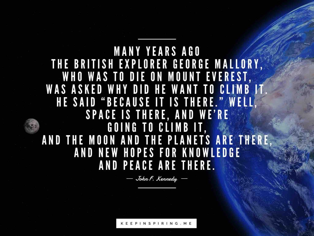 A space quote between the earth and moon shot from the International Space Station