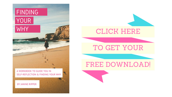 Grab a copy of your free Finding Your Why workbook