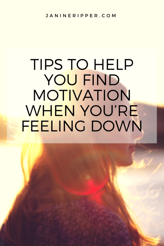 Tips to help you find motivation when you're feeling down